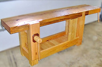This Wooden Workbench Is A French Roubo Woodworking Bench