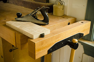 This Wooden Workbench Is A Sjobergs Workbench With A Woodworking Bench Vise And A Stanley Bailey Smoothing Plane