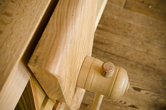 This Workbench Vise Is A Leg Vise On A Moravian Workbench, Which Is A Portable Workbench