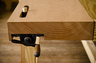 Wooden Workbench Tail Workbench Vise On A Portable Moravian Workbench Woodworking Bench