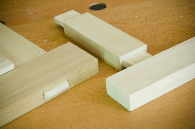 Mortise And Tenon Joints On A Woodworking Workbench