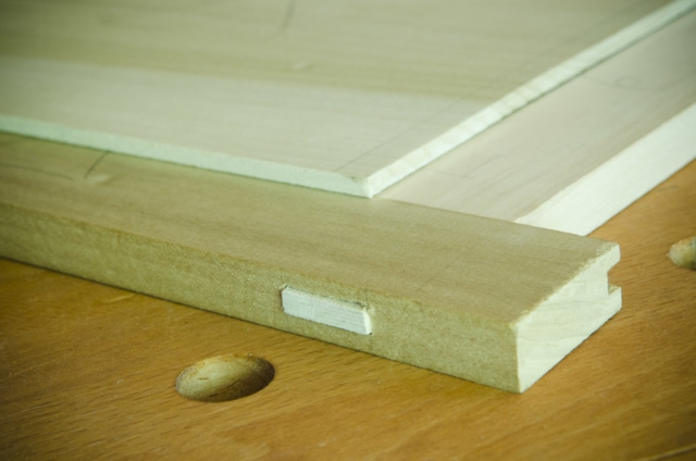 Through Mortise And Tenon Joint On A Frame And Panel Chest Lid