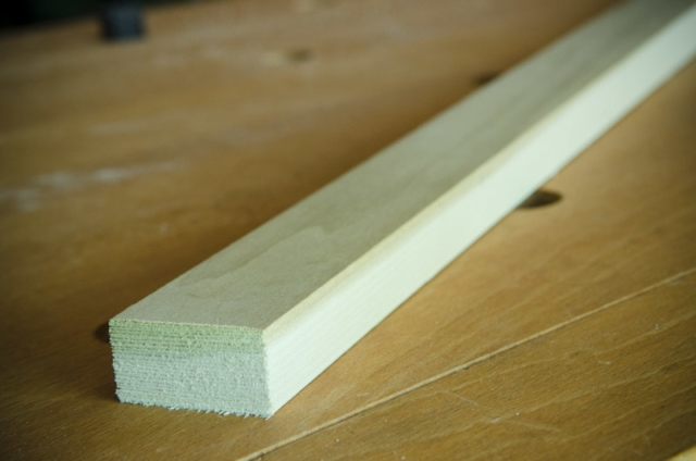 Piece Of Poplar Wood Used For Making A Mortise And Tenon Joint With Woodworking Hand Tools