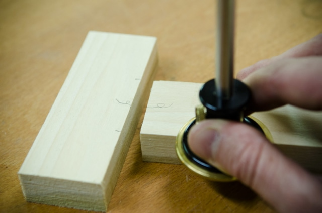 Using A Wheel Marking Gauge To Mark A Mortise And Tenon Joint With Woodworking Hand Tools