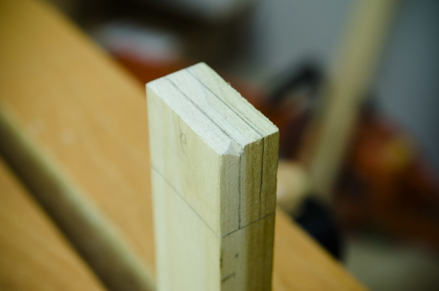 A Notch On A Tenon For Sawing