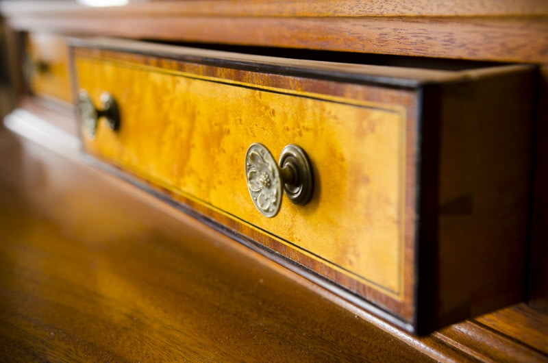 Phil Lowe Furniture With Bird'S Eye Maple Dovetail Drawer