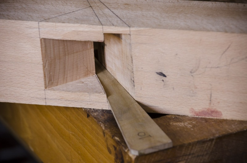 Bill Anderson building a hand plane bed gauge