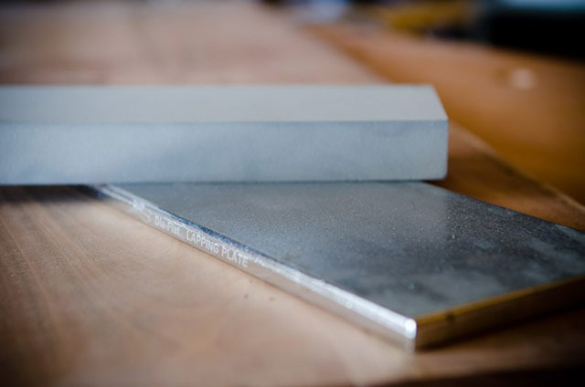 Flattening A Water Sharpening Stone On A Dmt Dia-Flat Diamond Lapping Plate