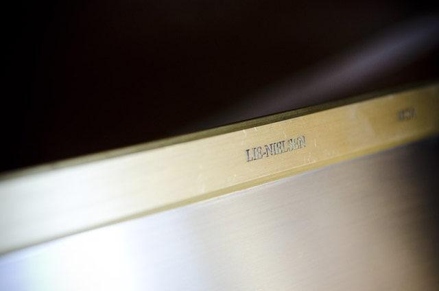 Lie-Nielsen Brass Back Saw Engraving