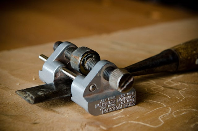 A Side Clamp Honing Guide Or Chisel Honing Guide For Chisel Sharpening