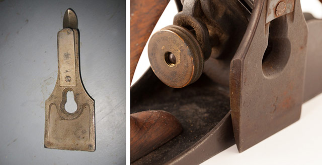 Stanley plane identification: Stanley bailey plane cap irons for stanley types 1-4