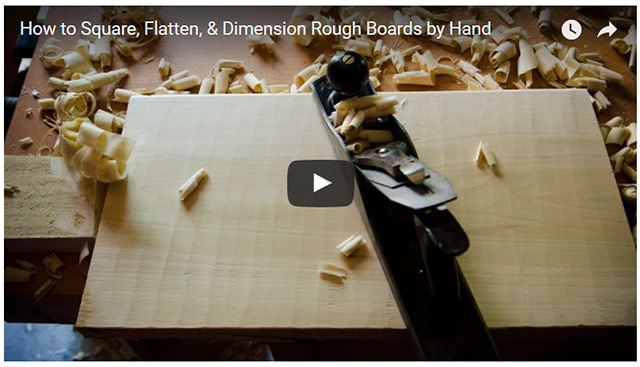 Video player of How to Square, Flatten, and Dimension Rough Boards with Hand Tools