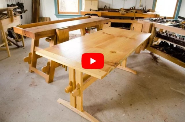 collapsible trestle table video player