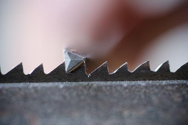 Triangular hand saw file filing rip hand saw teeth