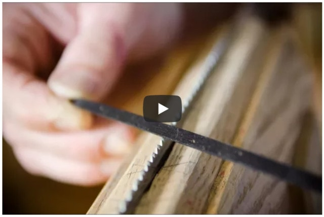 video hand saw sharpening teeth with file
