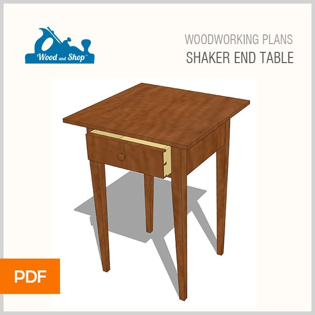 Woodworking plans for a shaker end table