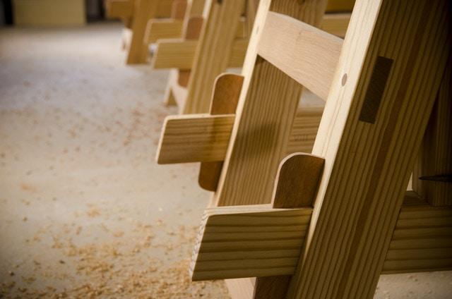 Moravian workbench wedged tenons key tenons