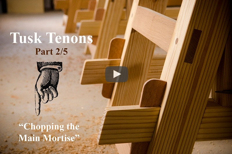 Make a Tusk Tenon Joint with Hand Tools (Part 2) | Wood and Shop