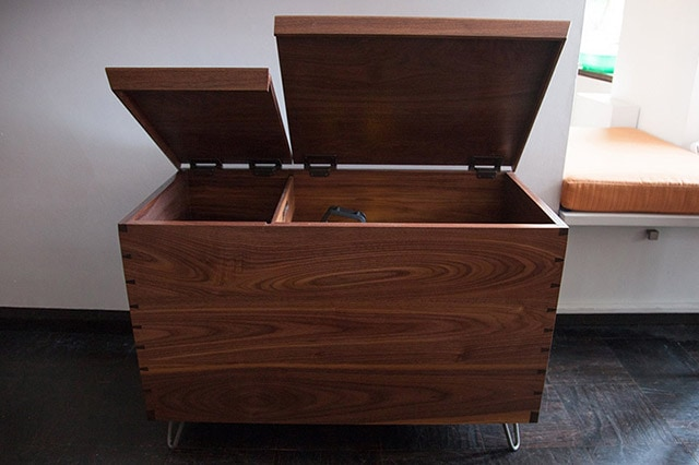 Contemporary Walnut Split Top Toy Chest Build By James Huggett