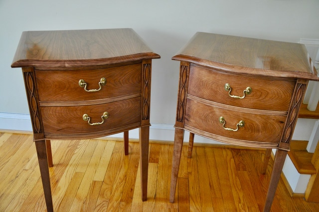 Curved drawer matching end tables built by james huggett