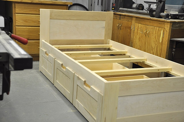 Building A Bed In A Woodworking Workshop