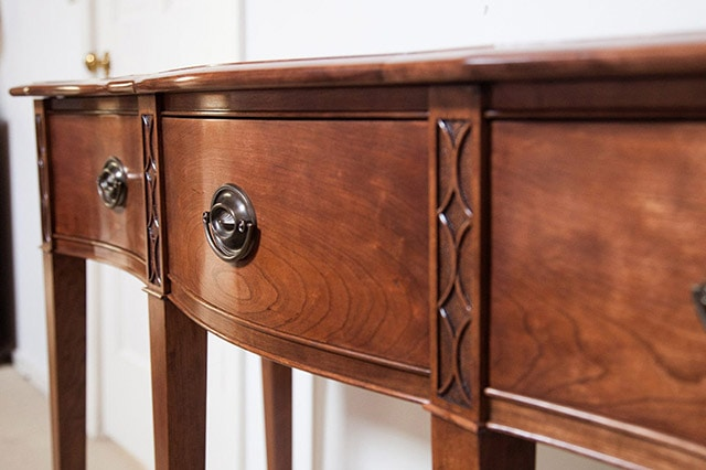 Federal Cherry Serpentine Entryway Table Build By James Huggett