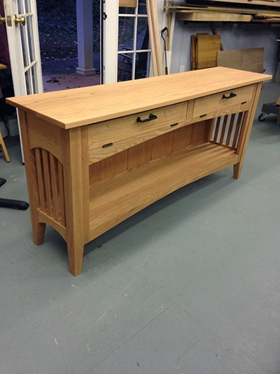 arts & crafts table built by james huggett