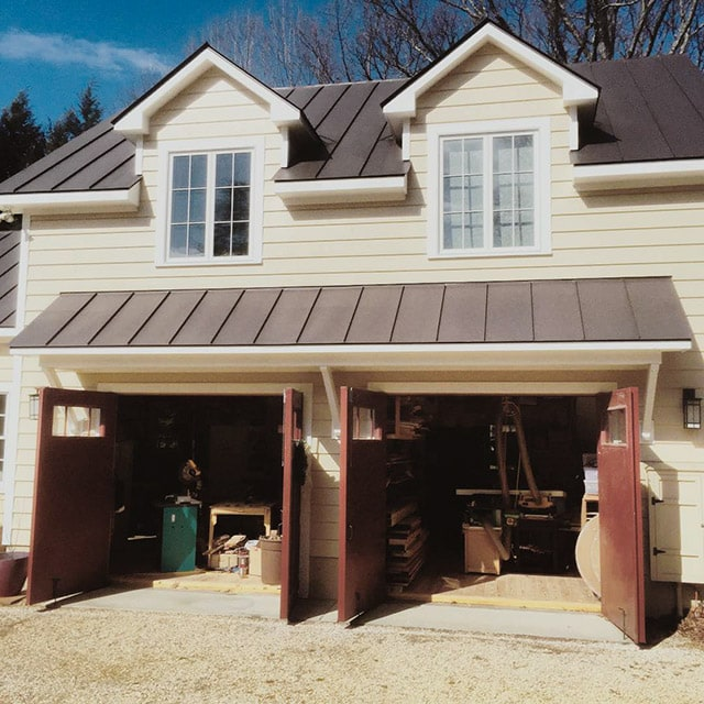 Dave Heller Woodworking Workshop and studio exterior