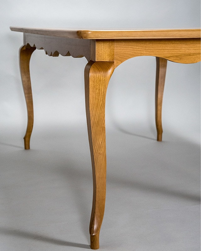 Curved leg table by Dave Heller