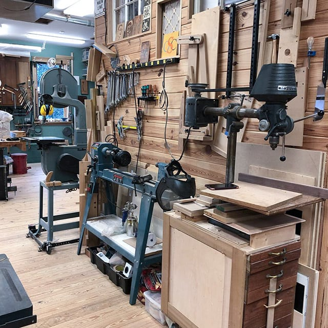 Dave Heller Woodworking Workshop and studio