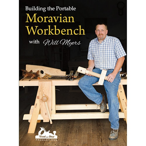Dvd Cover For Building The Portable Moravian Workbench With Will Myers
