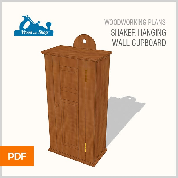 Woodworking plans for a shaker hanging wall cupboard cabinet