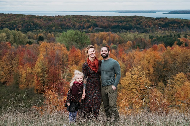 Erik Florip Toolworks Woodworking Hand Tools Family Photo With Autumn Leaves