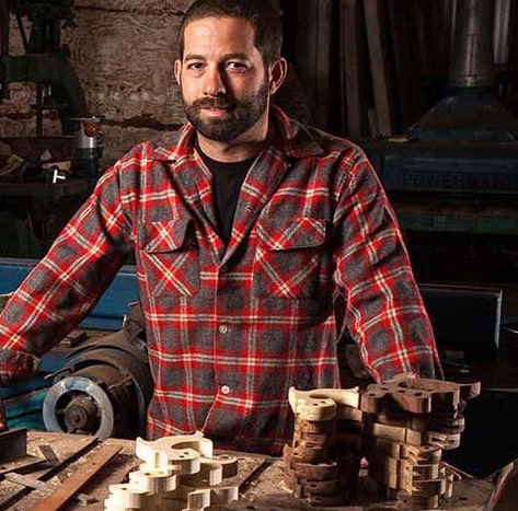 Portrait Of Erik Florip At His Woodworking Hand Tools Toolworks Shop