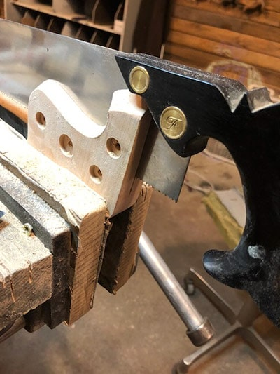 Erik Florip Toolworks Making A Woodworking Hand Saw Sawing For The Plate