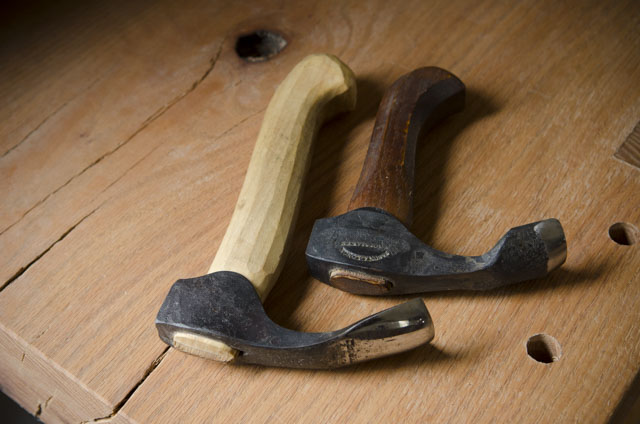 Green woodworking bowl adze tools on a woodworking workbench