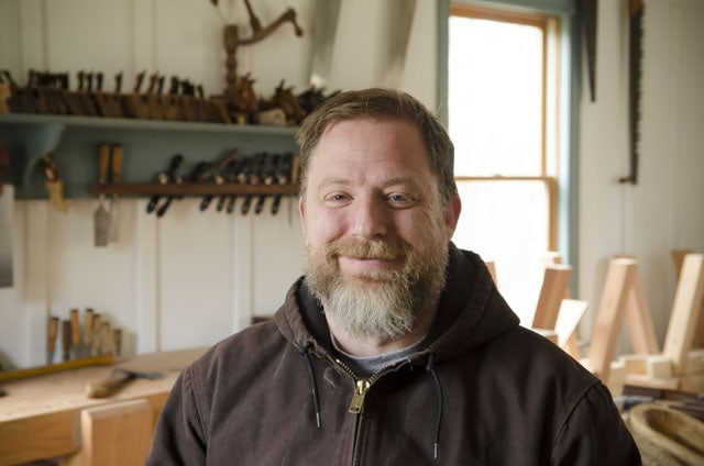 Portrait of Mike Cundall, who teaches wooden bowl carving and spoon carving