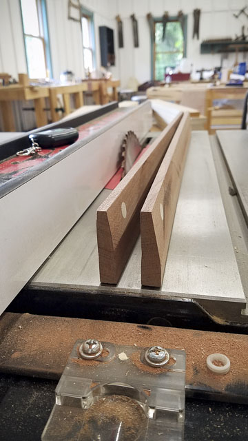 Sawstop table saw with mahogany winding sticks