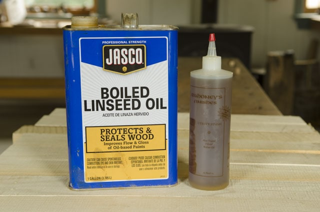 Boiled linseed oil and walnut oil