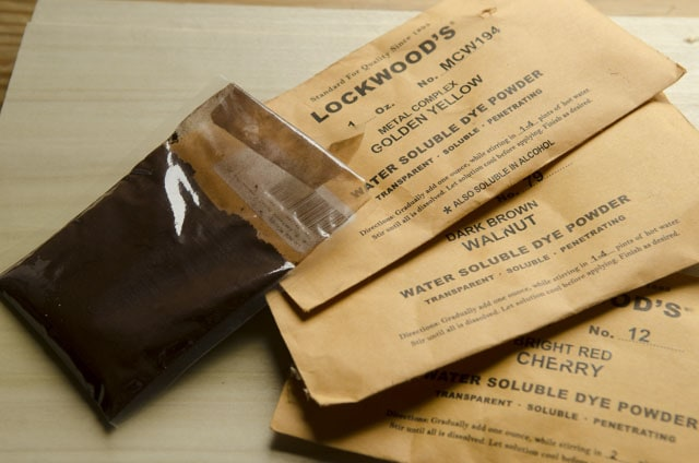Packets of Lockwood's aniline dye