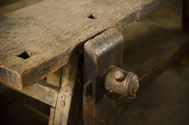 Antique Portable Moravian Workbench at Old Salem