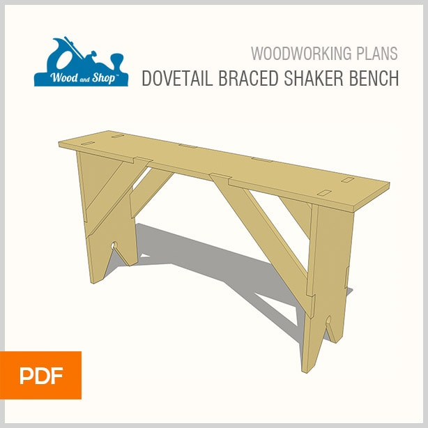 woodworking plans for a shaker dovetail lap braced bench