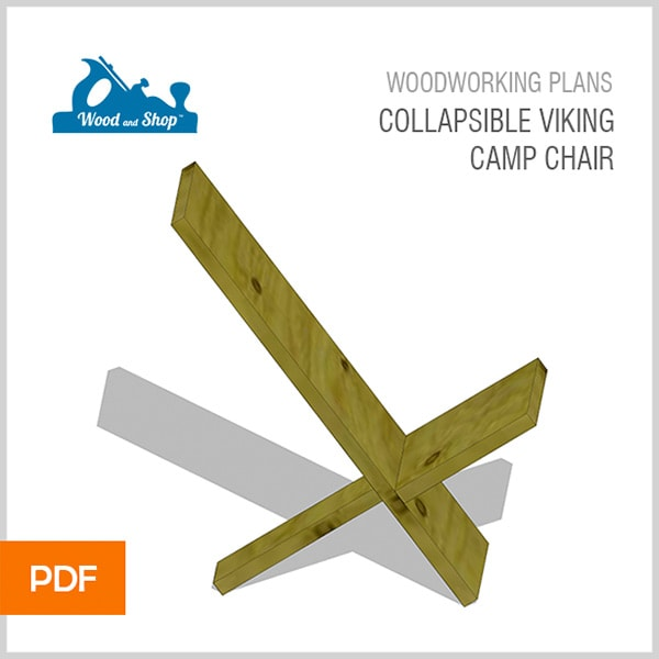 Collapsible Viking Camp Chair PDF woodworking plans