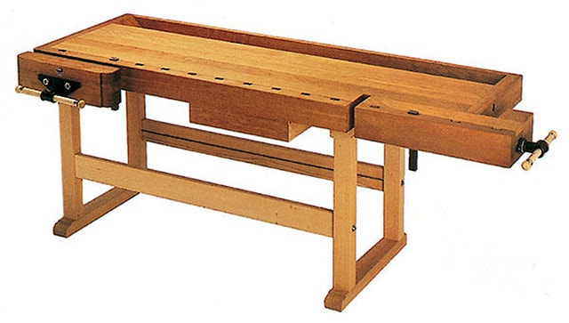 This Wooden Workbench Is A European Style Woodworking Bench Made By Hoffman &Amp; Hammer