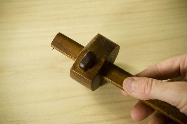 A single pin wooden antique marking gauge