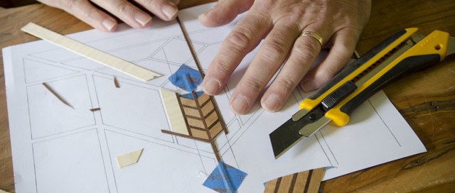 Dave Heller Using Marquetry Tools To Make A Marquetry Design For A Wood Box Lid