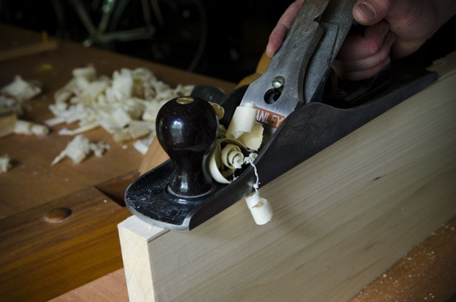 Stanley Planes: No. 5 Jack Plane jointing a short board