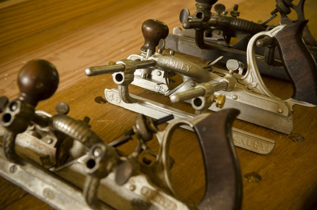 row of all Stanley 45 combination planes
