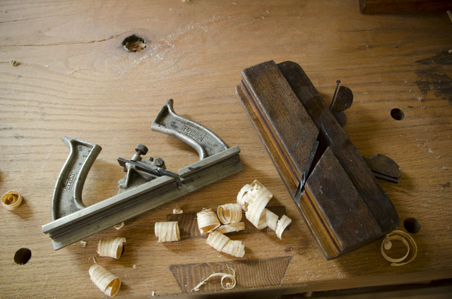 wooden and metal come and go tongue & groove planes