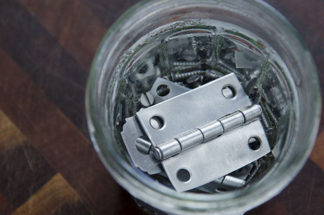 Stripped hinges and screws in water